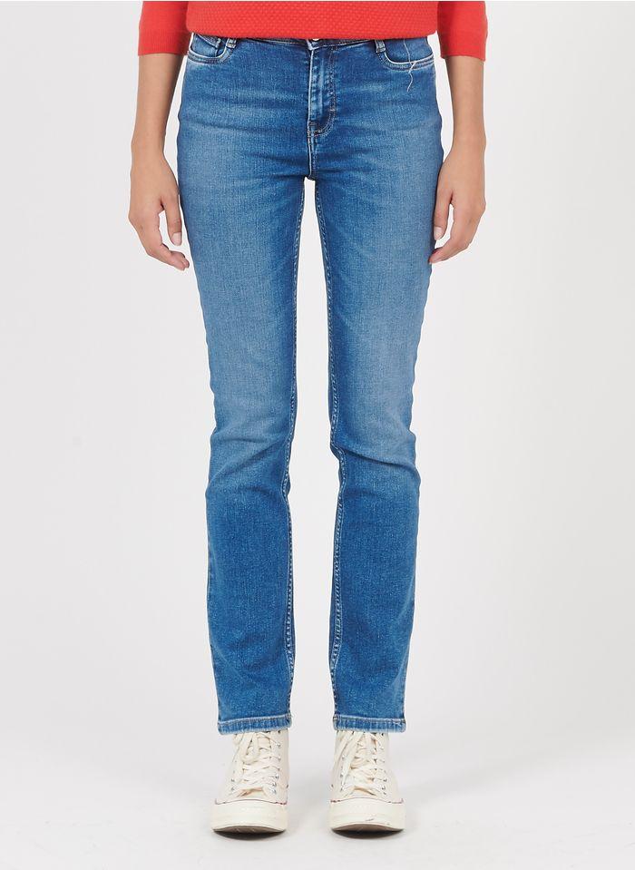 MAISON 123 Faded jeans Cotton-blend straight jeans