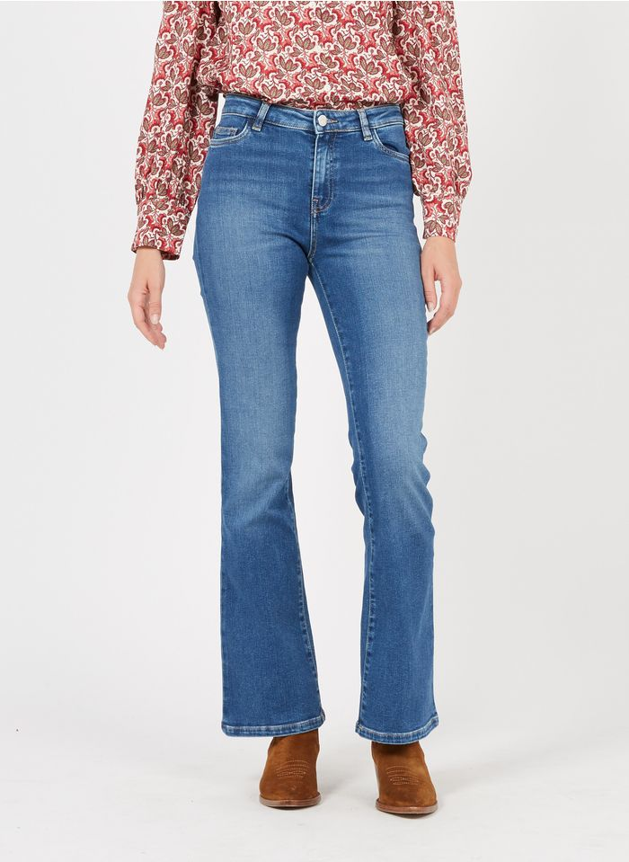 MAISON 123 Faded jeans Eco-friendly 5-pocket flared jeans