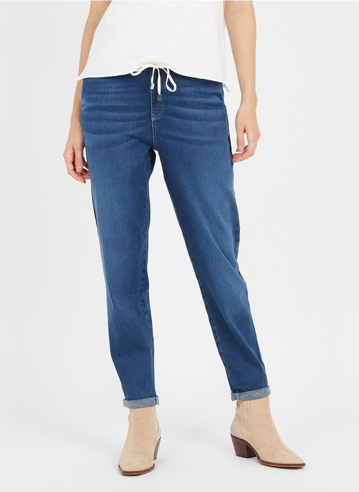 MAISON 123 Raw denim High-rise slim-fit jeans