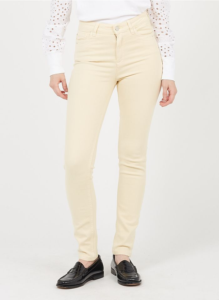 MAISON 123 Yellow High-rise slim-fit jeans with 5 pockets