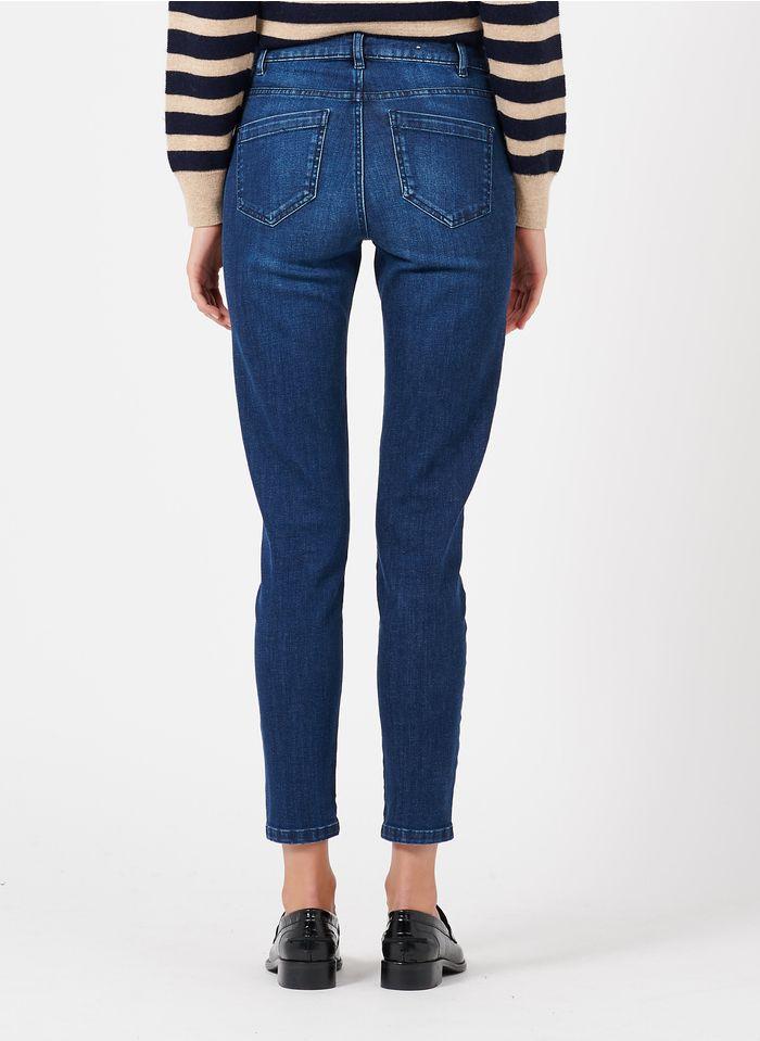 MAISON 123 Raw denim High-rise slim-fit raw jeans