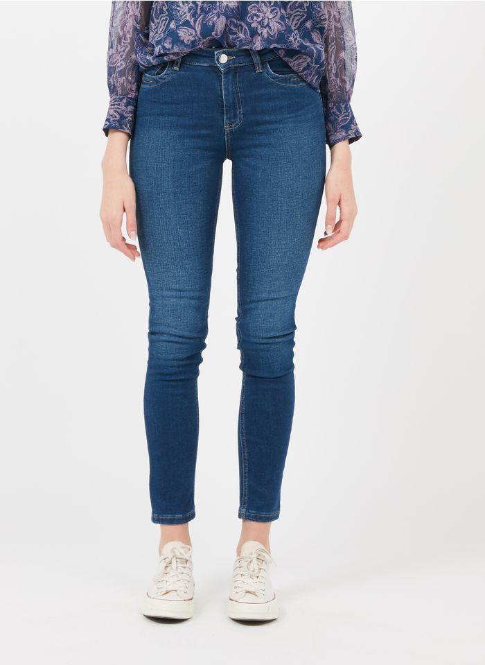 MAISON 123 Raw denim High-rise stretch cotton skinny jeans