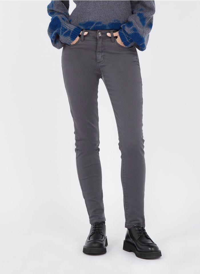 MAISON 123 Grey Mid-rise slim-fit jeans