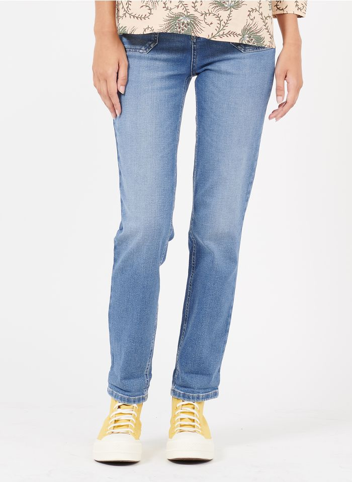 MAISON 123 Faded jeans Recycled organic cotton straight jeans