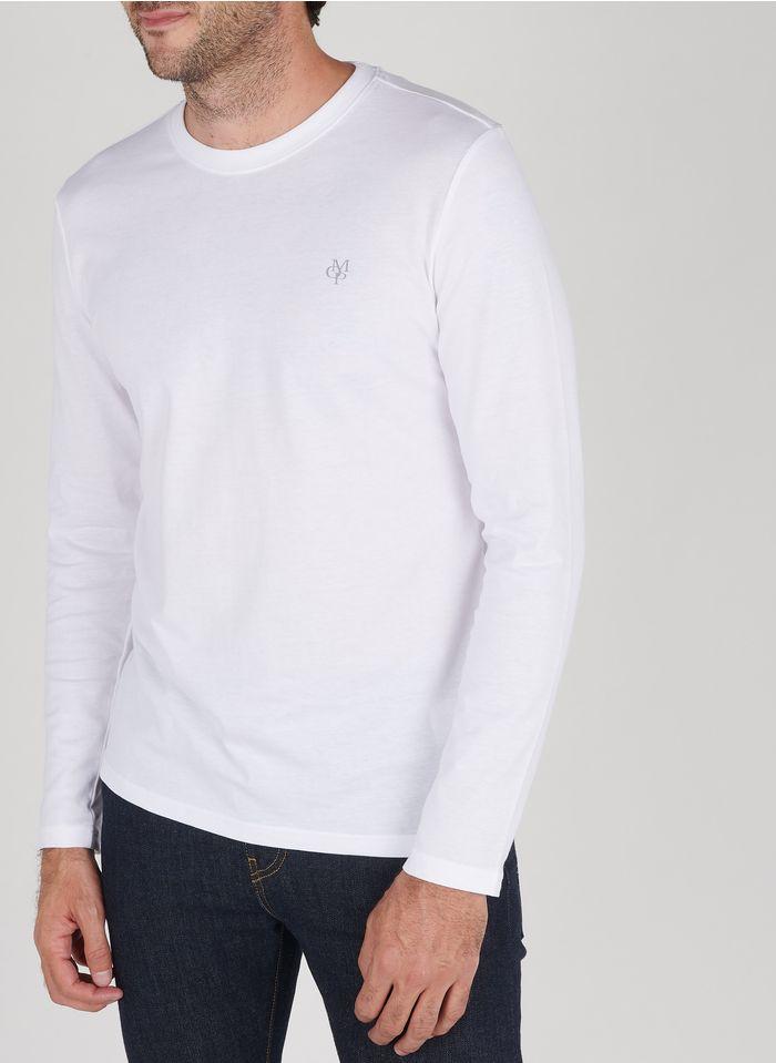 MARC O'POLO White Slim-fit round-neck cotton T-shirt