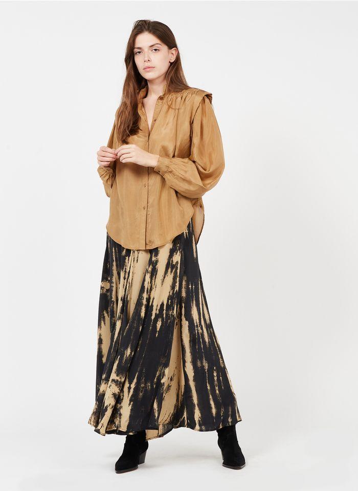 MES DEMOISELLES Black Long printed skirt
