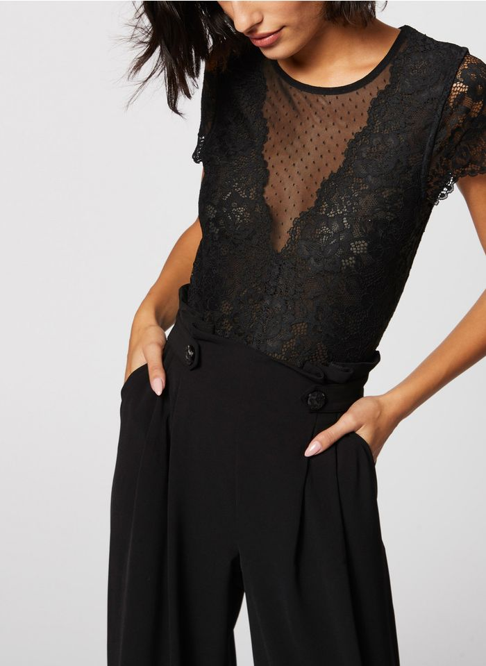 MORGAN Black Lace bodysuit