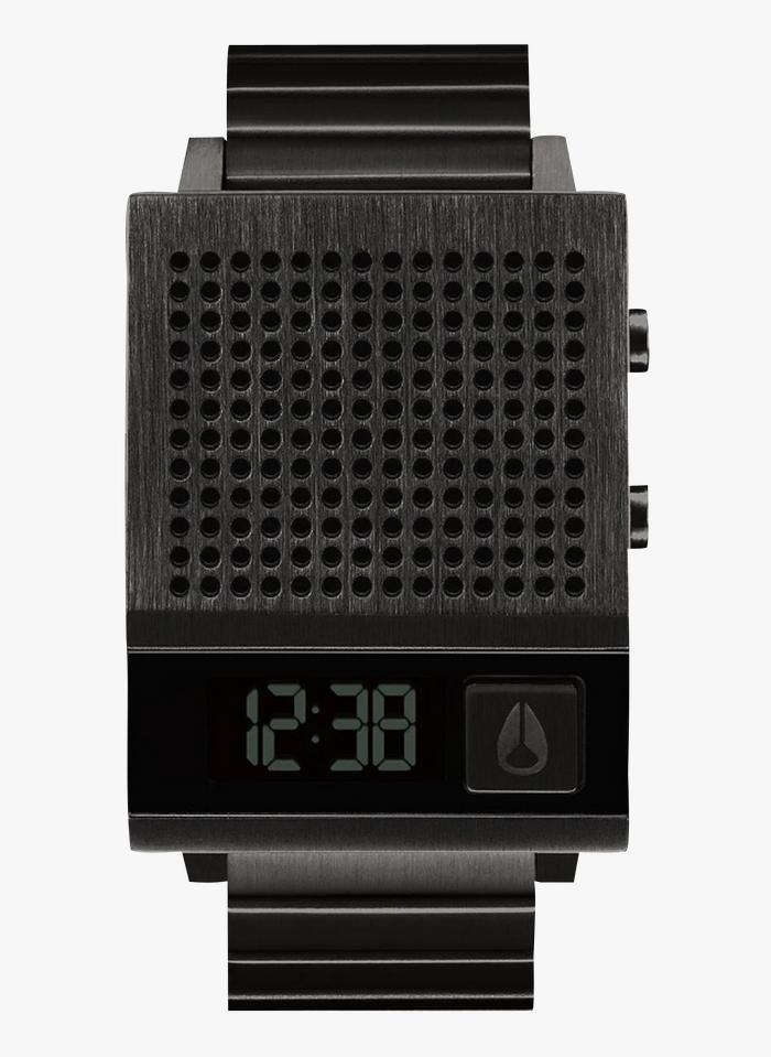 NIXON Black Steel talking digital watch