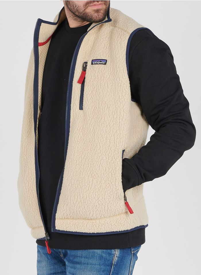 PATAGONIA Beige Regular-fit high-neck textured sleeveless fleece