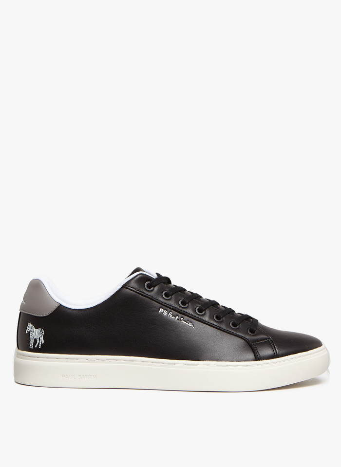 PAUL SMITH Black Leather low-top sneakers