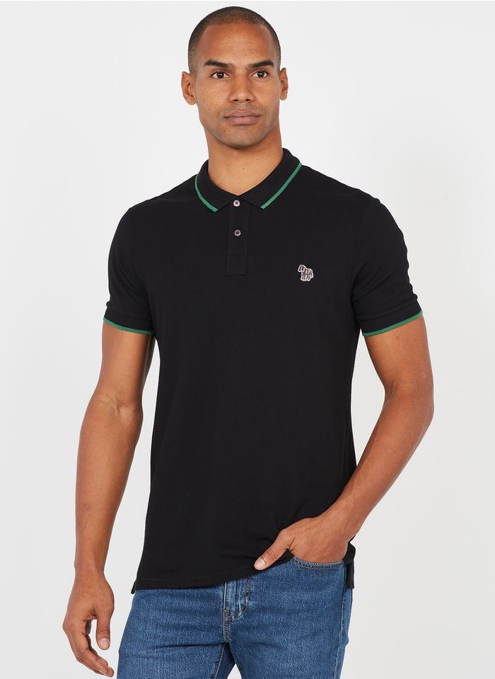 PAUL SMITH Black Slim-fit embroidered cotton sweatshirt