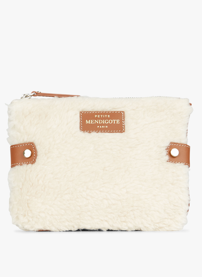 PETITE MENDIGOTE Brown Faux fur clutch bag