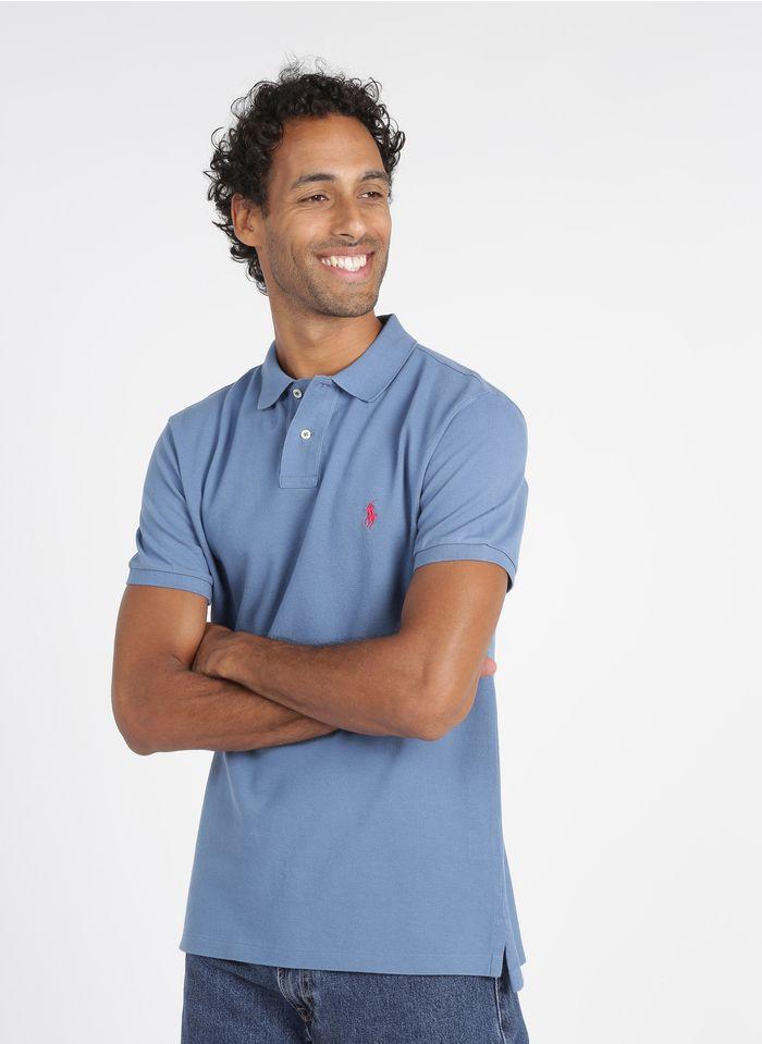 POLO RALPH LAUREN Blue Regular-fit cotton piqué polo shirt
