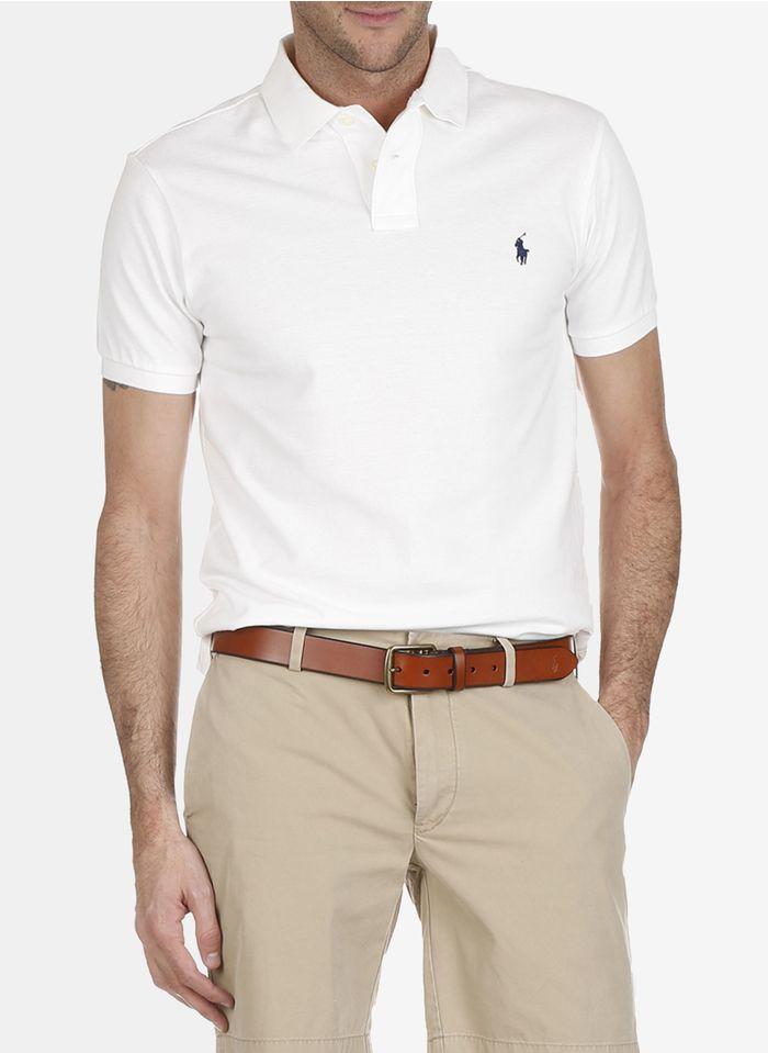 POLO RALPH LAUREN White Short-sleeved slim-fit polo shirt