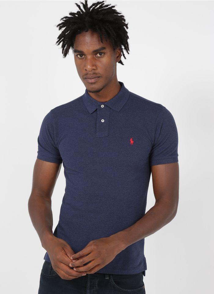 POLO RALPH LAUREN Blue Slim-fit cotton polo shirt