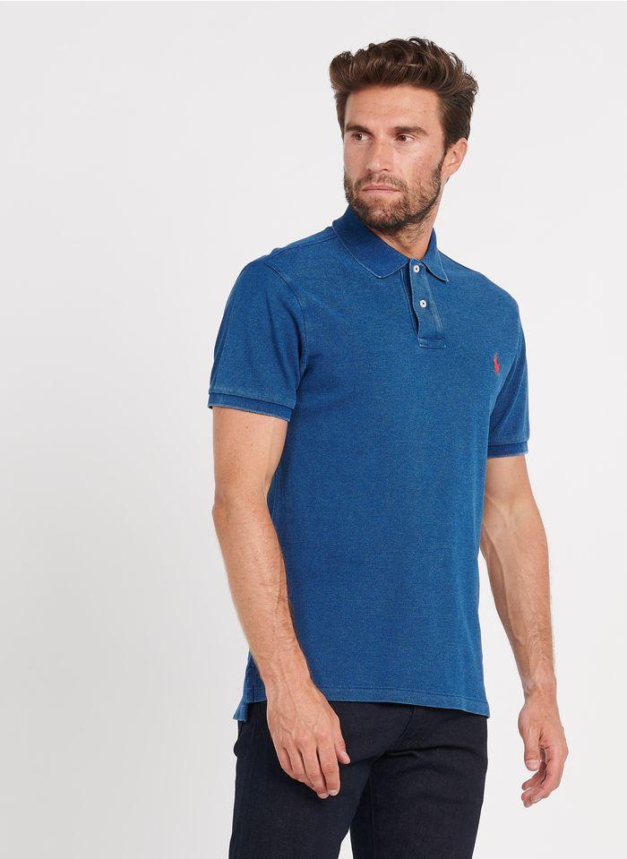 POLO RALPH LAUREN Blue Slim-fit denim polo shirt with classic collar