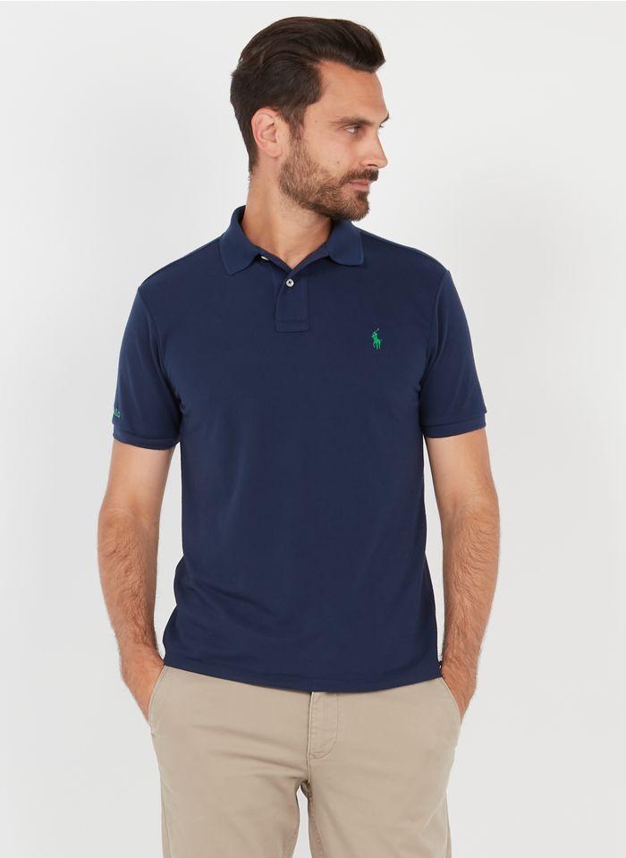 POLO RALPH LAUREN Blue Slim-fit polo shirt