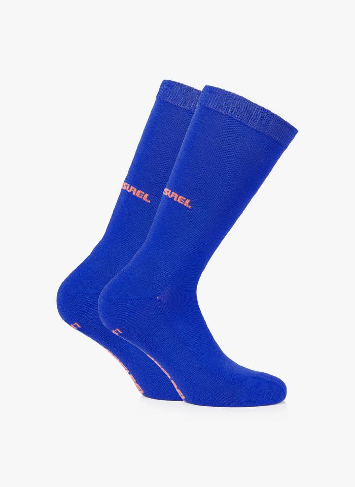 RASUREL Blue Organic cotton long socks
