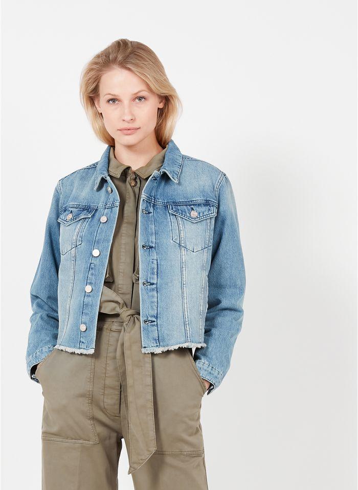 REIKO Jean stone Denim jacket with classic collar