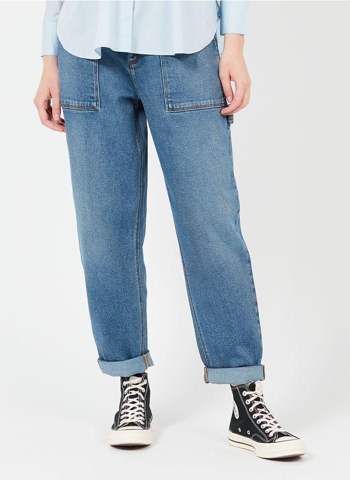REIKO Faded jeans High-rise boyfriend jeans