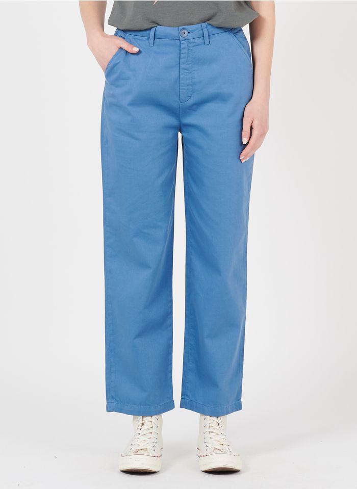 REIKO Blue Organic cotton-blend chinos