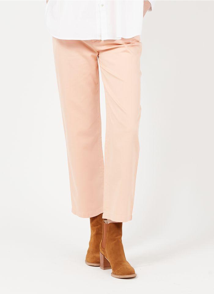 REIKO Pink Organic cotton-blend chinos