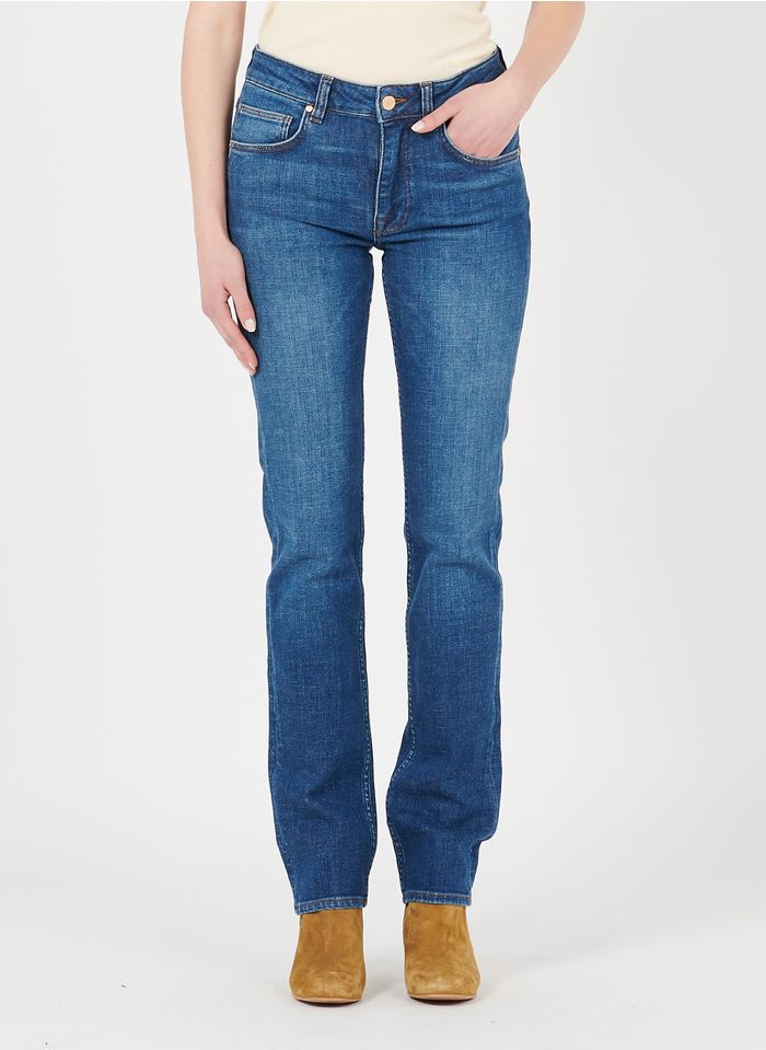 REIKO Blue Straight recycled cotton jeans