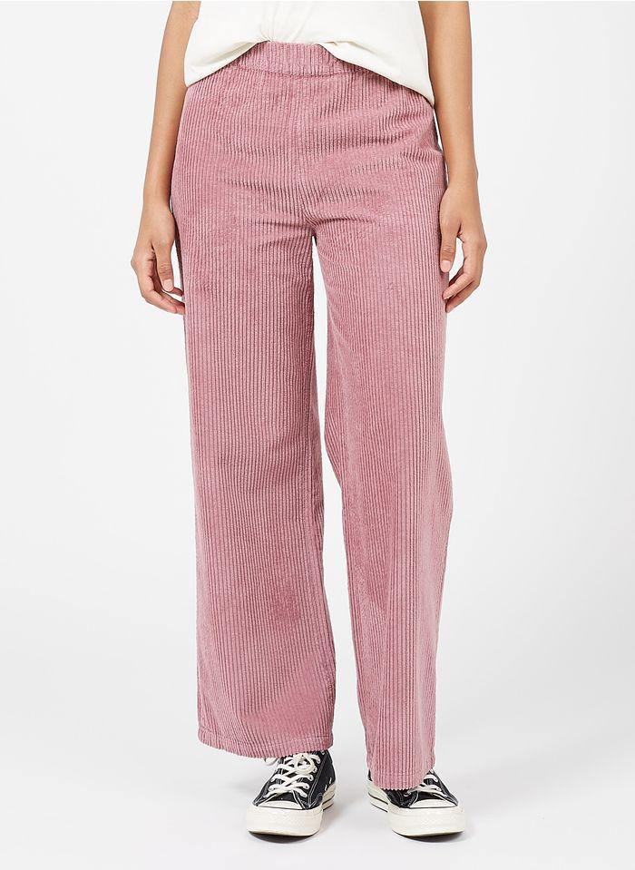 REIKO Purple Wide-leg high-waisted corduroy pants