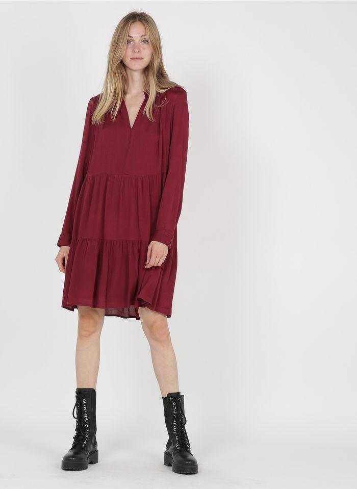 SEE U SOON Red Short V-neck dress