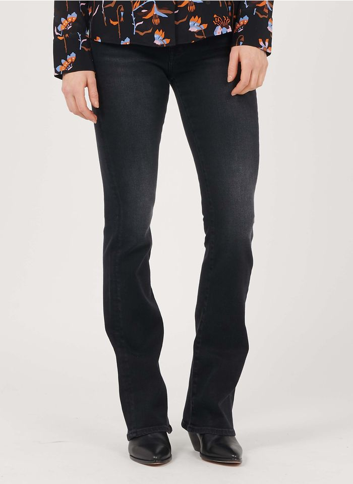 7 FOR ALL MANKIND Black High-rise bootcut jeans
