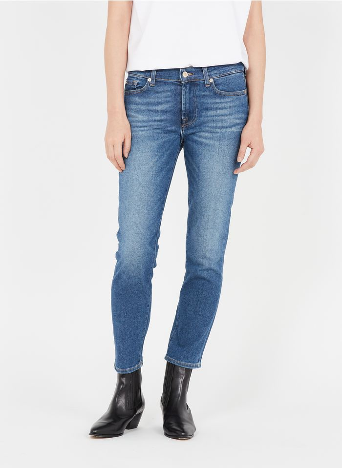7 FOR ALL MANKIND Jean stone Slim-fit cotton-blend jeans
