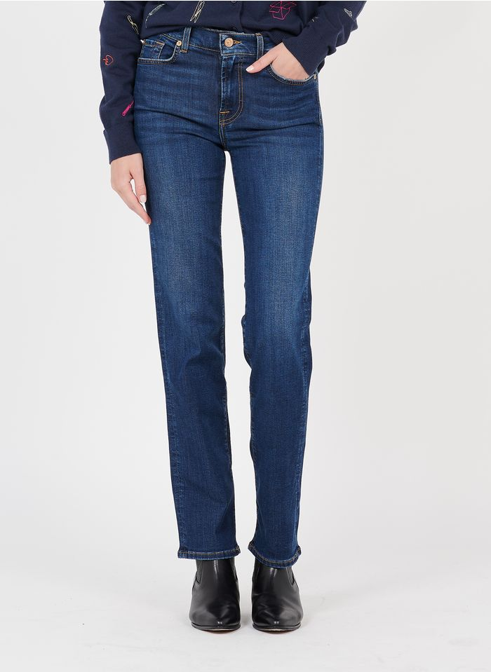 7 FOR ALL MANKIND Raw denim Straight jeans