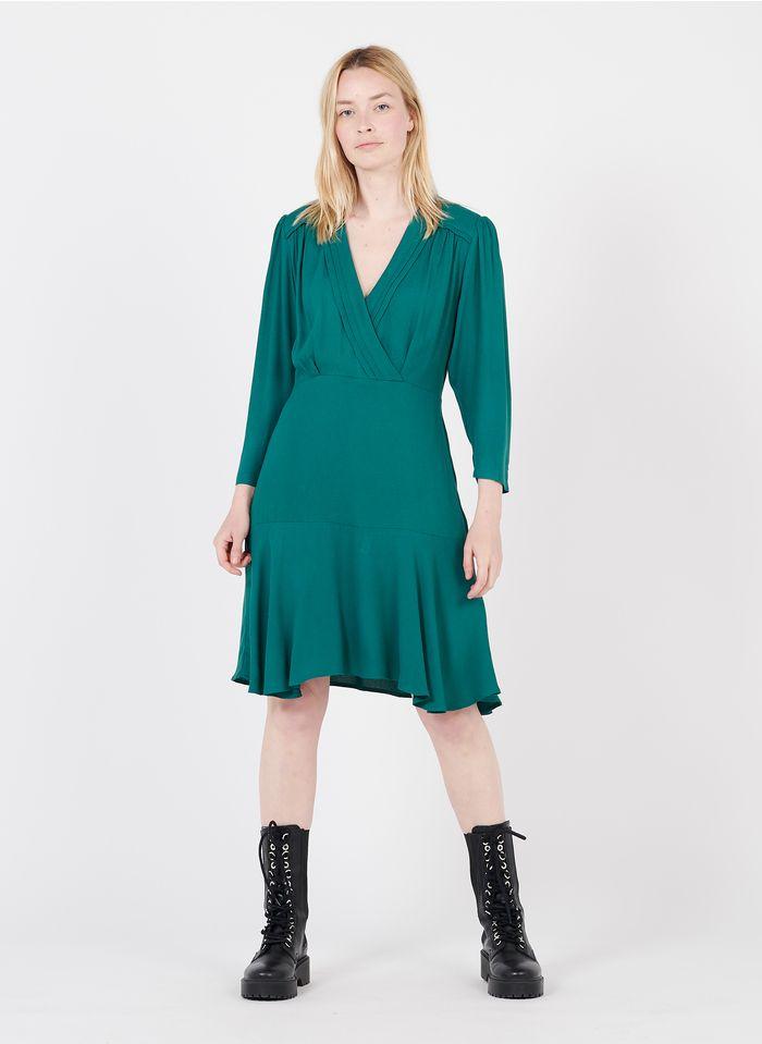 SUNCOO Green Short V-neck dress