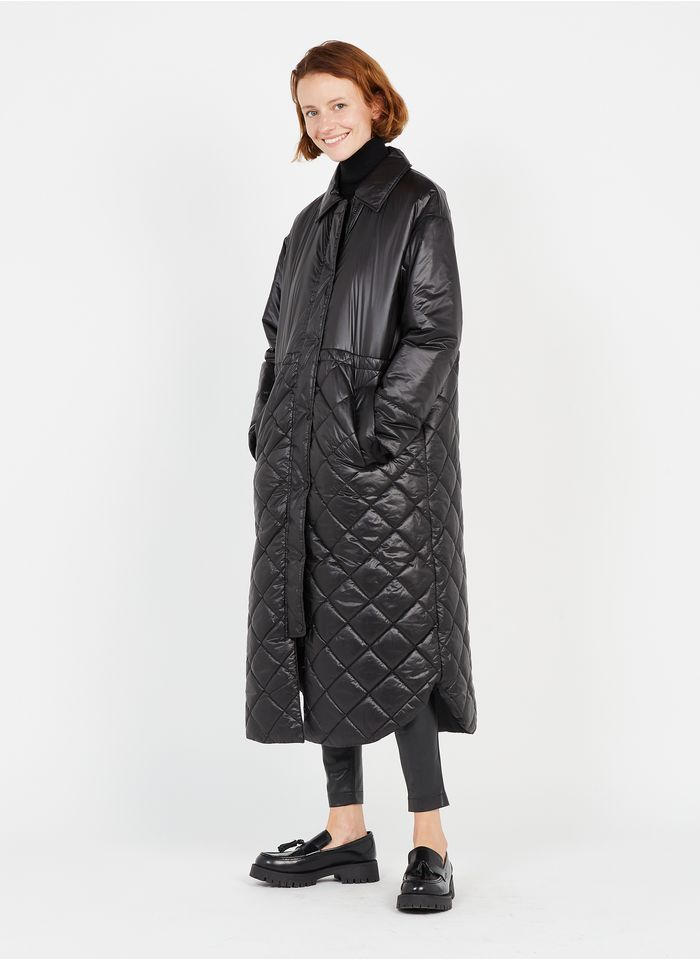 TWINSET Black Padded jacket with classic collar