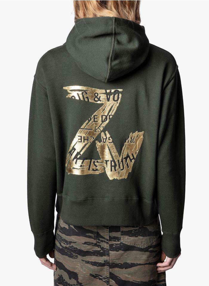 ZADIG&VOLTAIRE Khaki High-neck cotton hoodie