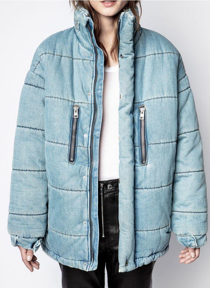 ZADIG&VOLTAIRE Blue High-neck quilted denim jacket