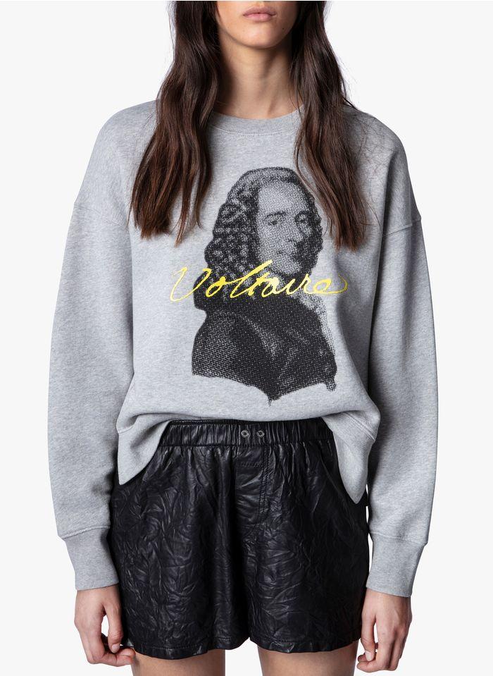 ZADIG&VOLTAIRE Grey Printed round-neck cotton sweatshirt