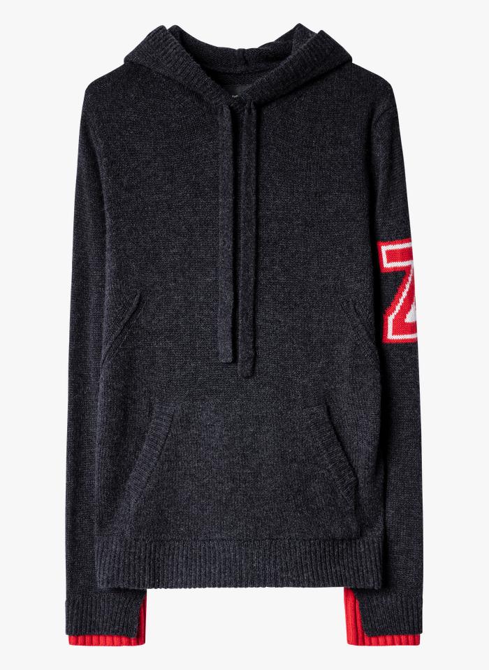ZADIG&VOLTAIRE Grey Round-neck cashmere hoodie