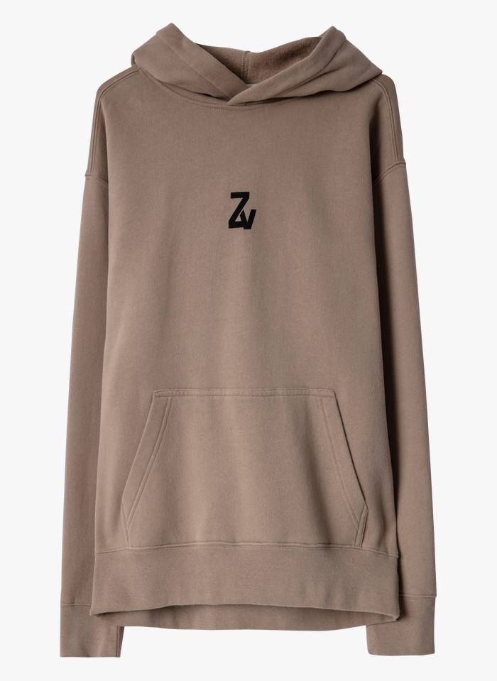ZADIG&VOLTAIRE Beige Round-neck cotton-blend hoodie