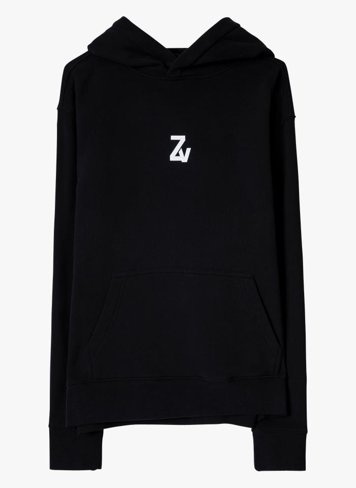 ZADIG&VOLTAIRE Black Round-neck cotton-blend hoodie