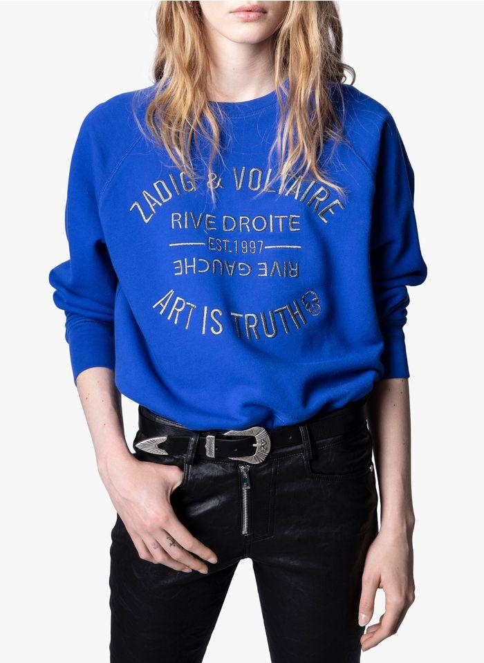 ZADIG&VOLTAIRE Blue Round-neck cotton sweatshirt