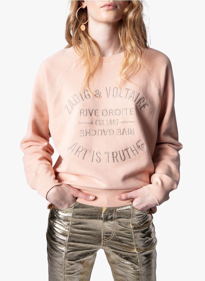 ZADIG&VOLTAIRE Pink Round-neck cotton sweatshirt
