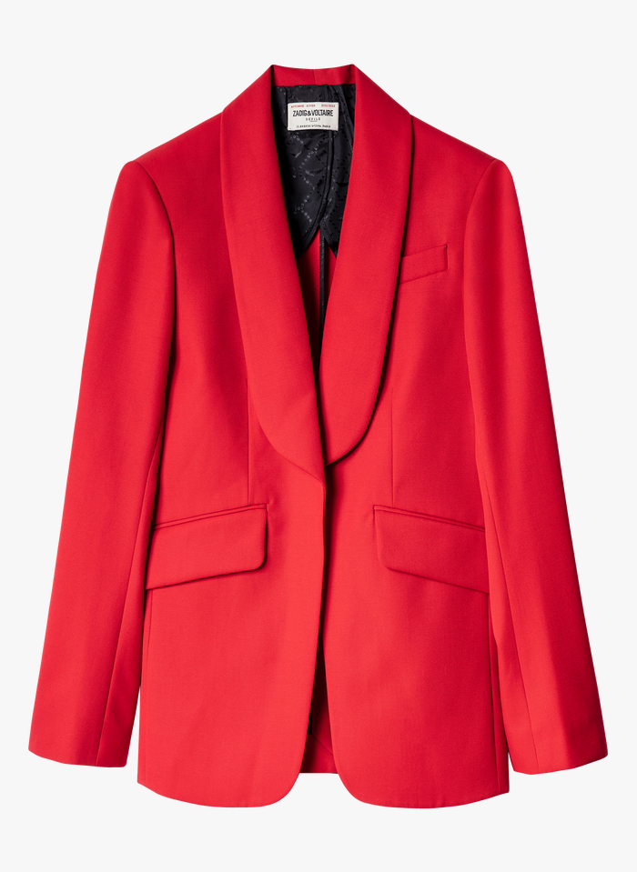 ZADIG&VOLTAIRE Red Wool-blend jacket with shawl collar