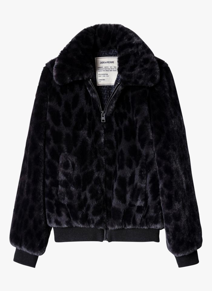 ZADIG&VOLTAIRE Grey Zip-up faux fur jacket