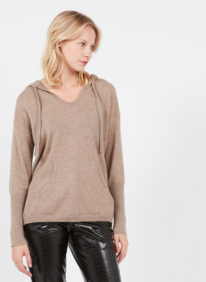ZAPA Brown Cashmere hooded sweater
