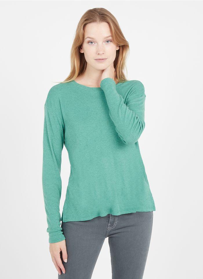BERENICE Camiseta de cuello redondo con strass en verde