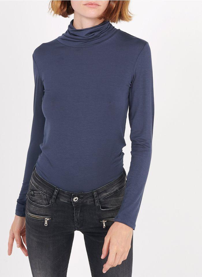 BEST MOUNTAIN Camiseta de cuello vuelto en azul