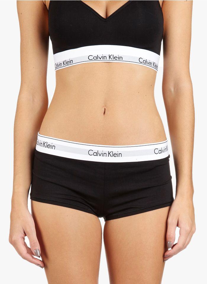 CALVIN KLEIN UNDERWEAR Braguitas brasileñas de algodón en negro