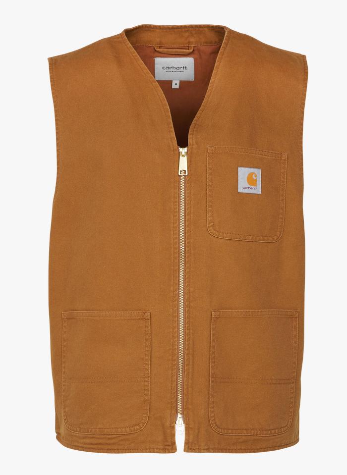 CARHARTT WIP Cazadora de algodón sin mangas en marrón