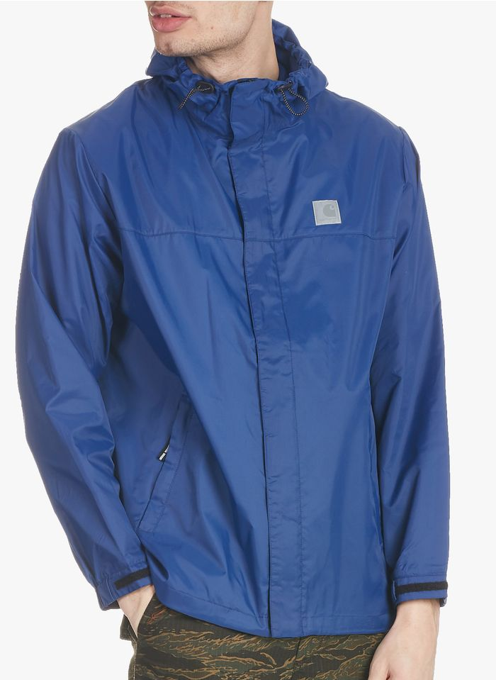 CARHARTT WIP Cazadora regular fit con cuello alto y capucha en azul